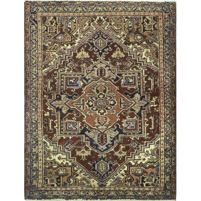 One-of-a-Kind Mclawhorn Hand-Knotted Wool Brown Area Rug
