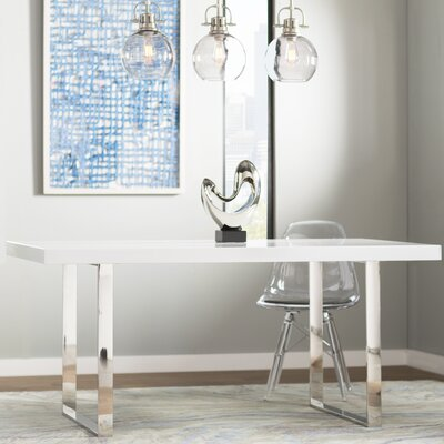Barris Dining Table Size: 30 H x 63 L x 39.5 W