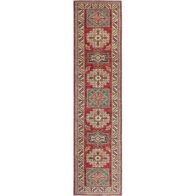 One-of-a-Kind Harrod Hand-Knotted Wool Ivory/Red Area Rug