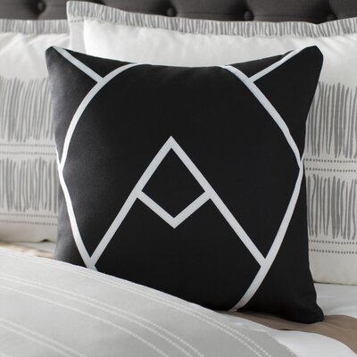 Barbagallo Indoor/Outdoor Throw Pillow Color: Black White, Size: 18 H x 18 W x 3 D