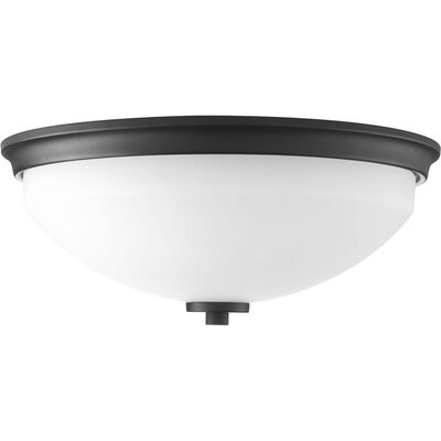 Knouse 2-Light Flush Mount Fixture Finish: Black