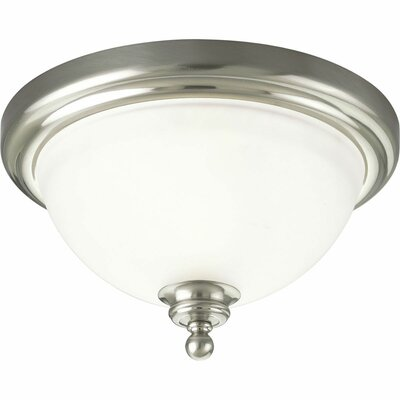 Gradall 1-Light Flush Mount Fixture Finish: Brushed Nickel