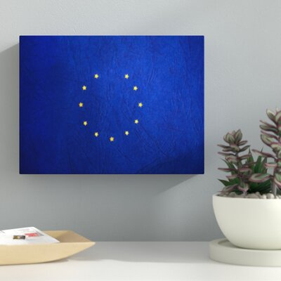 'Europe Flag' Graphic Art Print on Wrapped Canvas 8779D7E74B6D4279B3490A47485611C0