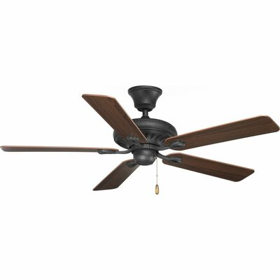 52 Foxburg 5 Blade Ceiling Fan Finish: Forged Black