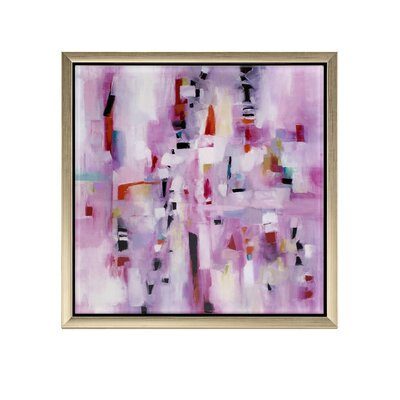 'Violet' Framed Acrylic Painting Print 60220