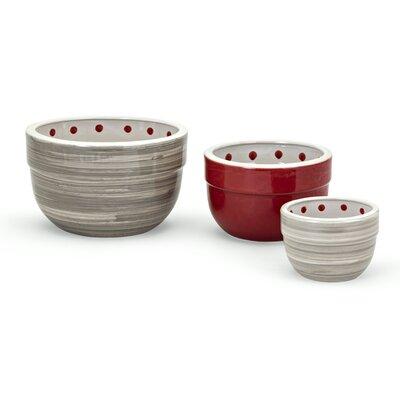 Berry Patch 3 Piece Ceramic Mixing Bowl Set