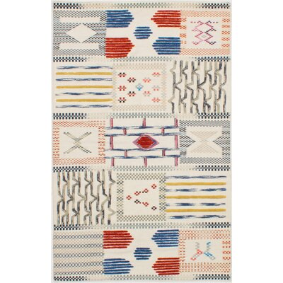Greenwich Village Hand-Woven Wool Cream Area Rug Size: Rectangle 8 W x 10 L