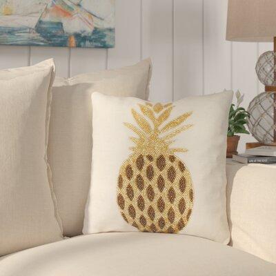 Simsbury Pineapple Beaded Throw Pillow