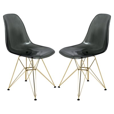 Alethia Dining Chair Color: Black