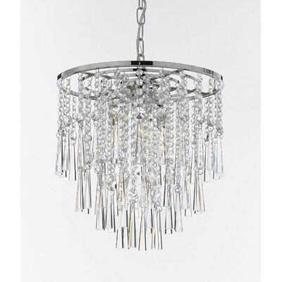 Amold Rain Drop 3-Light Crystal Chandelier