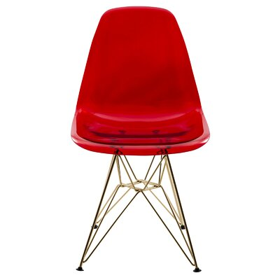 Alethia Dining Chair Color: Red