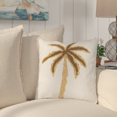 Montgomery Palm Tree Beaded Throw Pillow