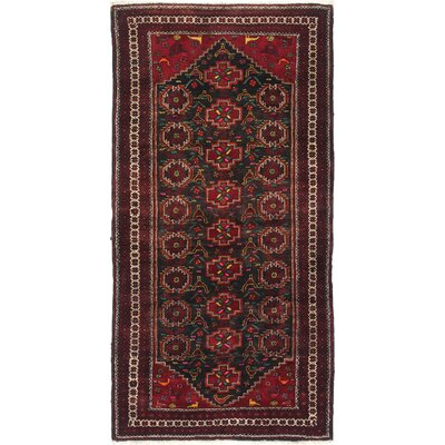 One-of-a-Kind Monteith Hand-Woven Red Wool Area Rug