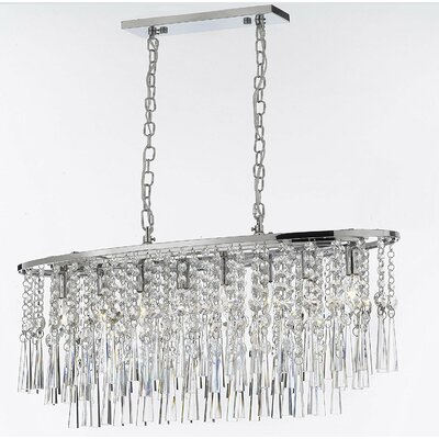 Amoll Rain Drop 8-Light Crystal Chandelier