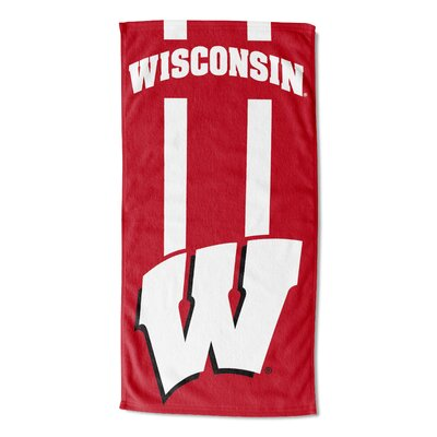 NCAA Zone Read Beach Towel NCAA Team: University of Wisconsin