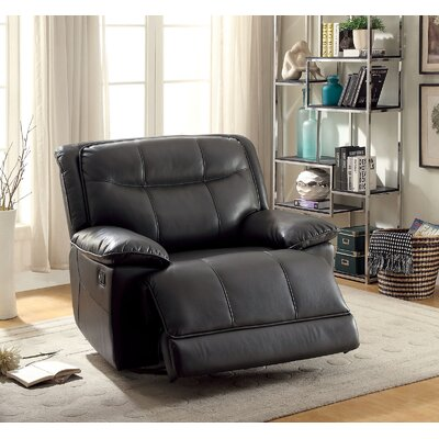 Royston Manual Glider Recliner Upholstery: Gray