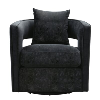 Rayners Swivel Barrel Chair Upholstery: Black