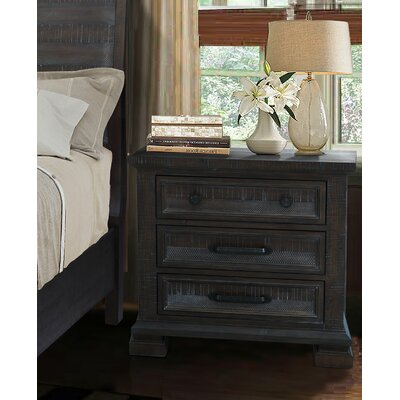 Upney 3 Drawer Nightstand