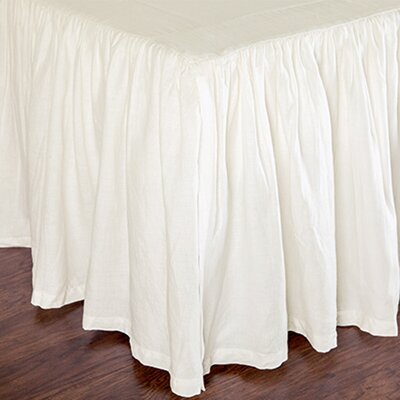 Heagy Bed Skirt Size: King, Color: White