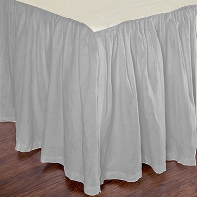 Heagy Bed Skirt Size: King, Color: Mist