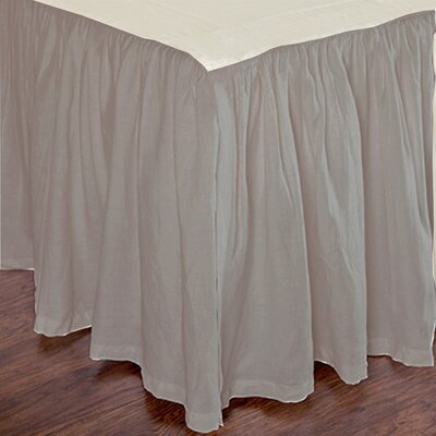Heagy Bed Skirt Size: Twin, Color: Natural