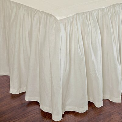 Heagy Bed Skirt Size: Twin, Color: Ivory