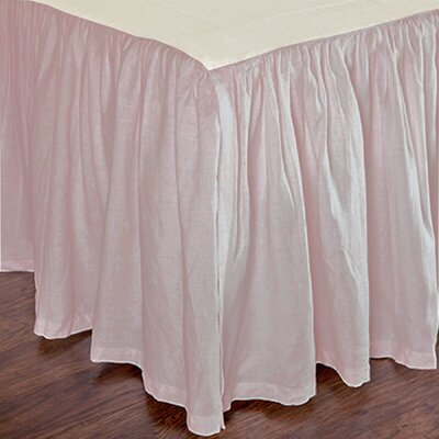 Heagy Bed Skirt Size: Twin, Color: Blush