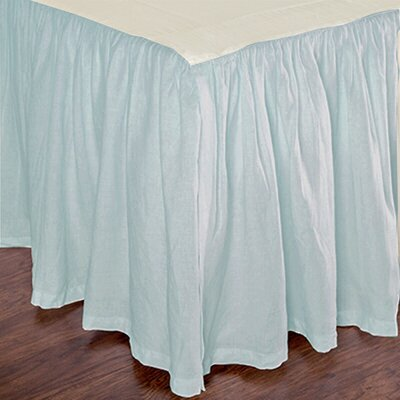 Heagy Bed Skirt Size: Twin, Color: Spa Blue