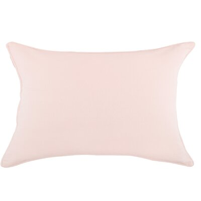 Brownridge Cotton Sham Size: Standard, Color: Blush