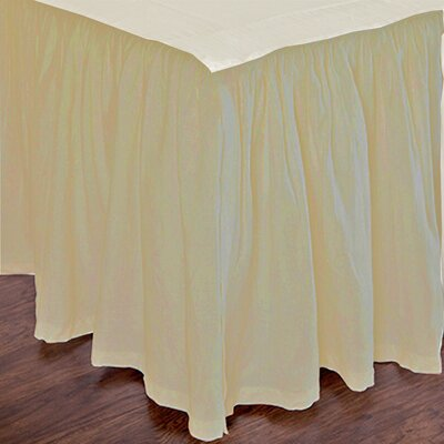 Heagy Bed Skirt Size: Twin, Color: Wheat