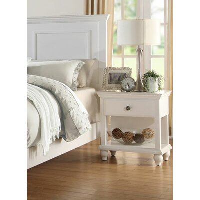 Ensley 1 Drawer Nightstand Color: White