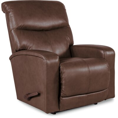 Levi Manual Rocker Recliner Upholstery: Walnut