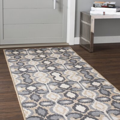 Barcomb Ivory Area Rug Rug Size: Runner 27 x 91