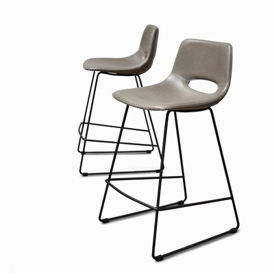 Didomenico Thompson 25 Bar Stool (Set of 2) Color: Grey