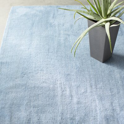 Bargo Hand-Woven Wool Blue Area Rug Rug Size: Rectangle 8 x 10
