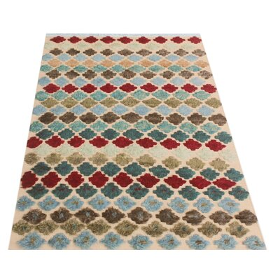 One-of-a-Kind Gowen Hand-Knotted Wool Beige/Blue Area Rug