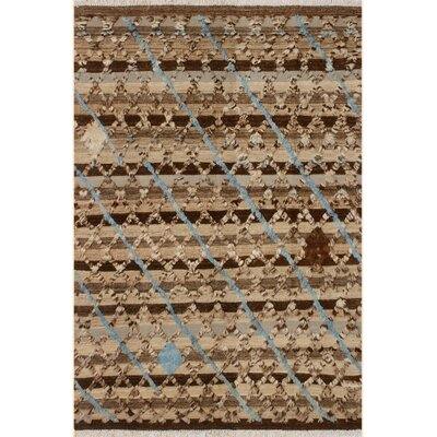 One-of-a-Kind Alastar Hand-Knotted Wool Tan/Brown Area Rug