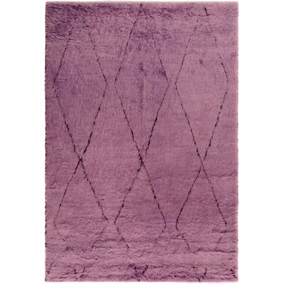 One-of-a-Kind Alastar Hand-Knotted Wool Purple Area Rug