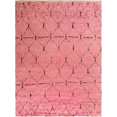 One-of-a-Kind Alastar Hand-Knotted Wool Pink Area Rug