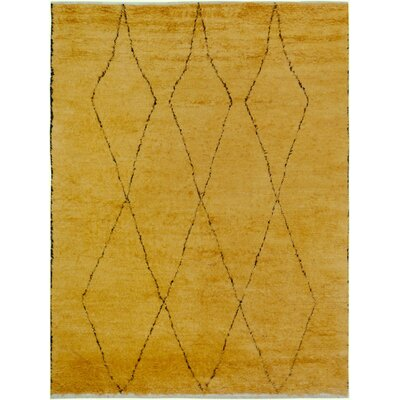 One-of-a-Kind Alastar Hand-Knotted Wool Gold Area Rug