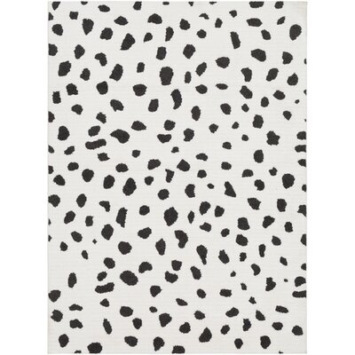 Elissa Boho Squares Black/White Area Rug Rug Size: Rectangle 67 x 96