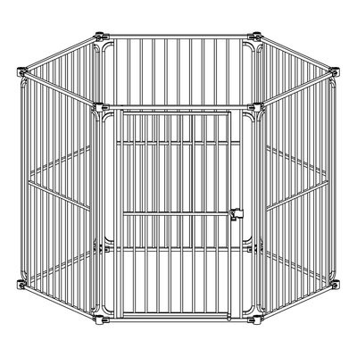 Heavy Duty Modular Dog Pen Size: 30 H x 22.5 W x 1 D
