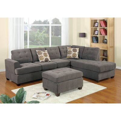 Bryner Reversible Sectional with Ottoman