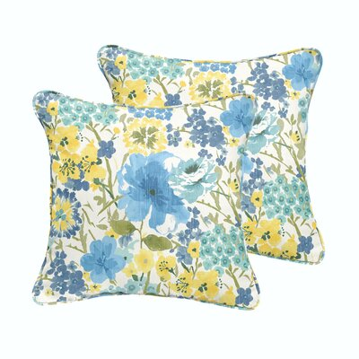 Kerrick Indoor/Outdoor Throw Pillow Size: 18 x 18