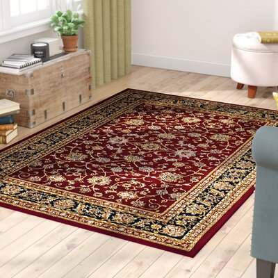 Anora Saruk Wool Blend Red/Beige Area Rug Rug Size: 4 x 5
