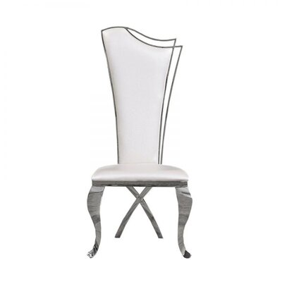 Frampton Cotterell Upholstered Dining Chair (Set of 2) Upholstery Color: White