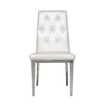Jolin Upholstered Dining Chair (Set of 2) Upholstery Color: White