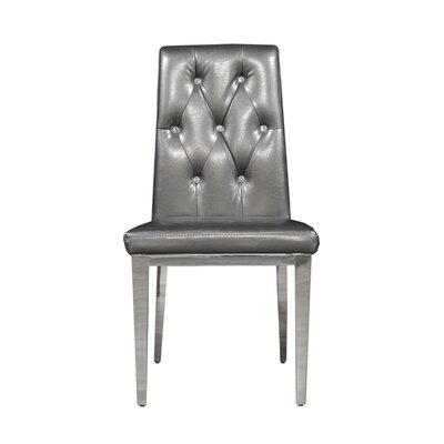 Jolin Upholstered Dining Chair (Set of 2) Upholstery Color: Gray