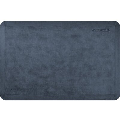 Estates Linen Kitchen Mat Mat Size: Rectangle 2 x 3, Color: Midnight Blue