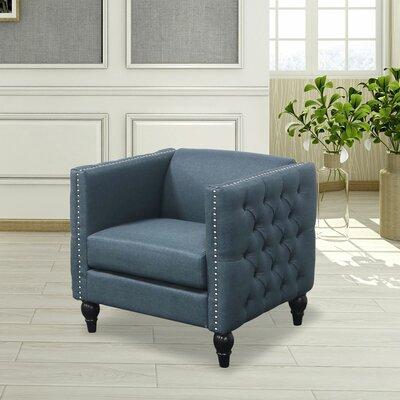 Iser Upholstered Armchair Upholstery: Blue